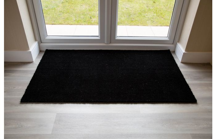 Buy Large Coir Entrance Matting Table Protectors Black Entrance Coir Matting Made To Measure Grimeford Mill Uk