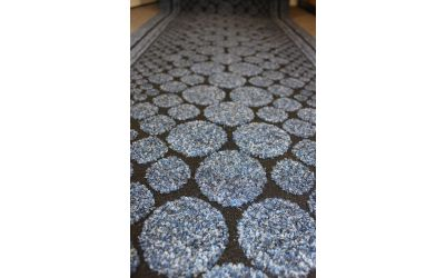 Blue Entrance Hallway Pebbles Mat Corridor 67cm wide