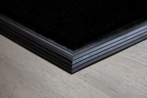 17mm Coir matting with Rubber Edge - Black - 100 cm x 200 cm