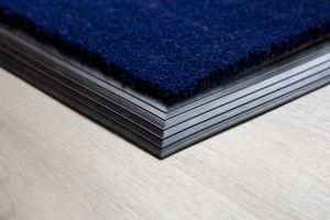 17mm Coir matting with Rubber Edge - Blue - 100 cm x 200 cm