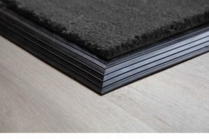 17mm Coir matting with Rubber Edge - Grey - 100 cm x 200 cm