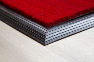 17mm Coir matting with Rubber Edge - Red - 100 cm x 200 cm