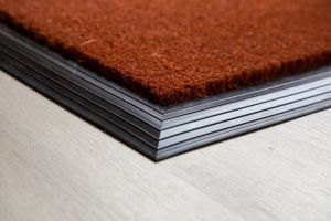 17mm Coir matting with Rubber Edge - Russet - 100 cm x 200 cm