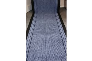Blue Stripe Entrance Hallway Mat Corridor 67cm wide