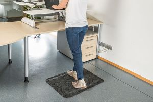 Charcoal Anti Fatigue Office Mat Comfort