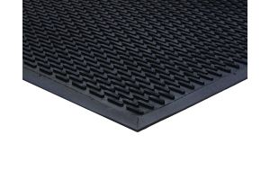 Black Outdoor Rubber Lozenge Matting 7mm 115 mm X 175 mm
