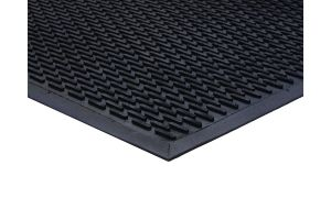 Black Outdoor Rubber Lozenge Matting 7mm 85 mm X 300 mm
