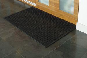 Black Anti Fatigue Mat Clean Through Plus