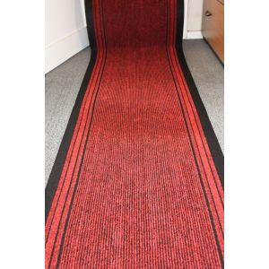 Red Stripe Entrance Hallway Mat Corridor 67cm wide