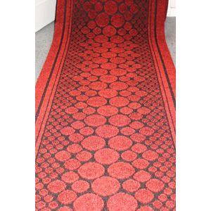 Red  Entrance Hallway Pebbles Mat Corridor 67cm wide