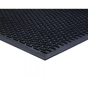 Black Outdoor Rubber Lozenge Matting 7mm 115 mm X 175 mm