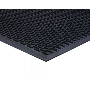 Black Outdoor Rubber Lozenge Matting 7mm 85 mm X 300 mm